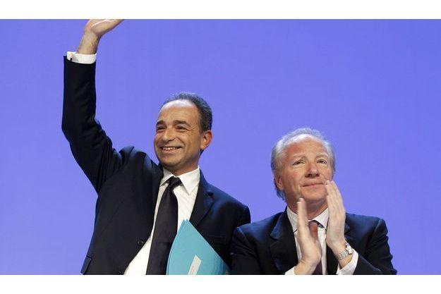 Jean-François Copé et Brice Hortefeux en janvier 2012.