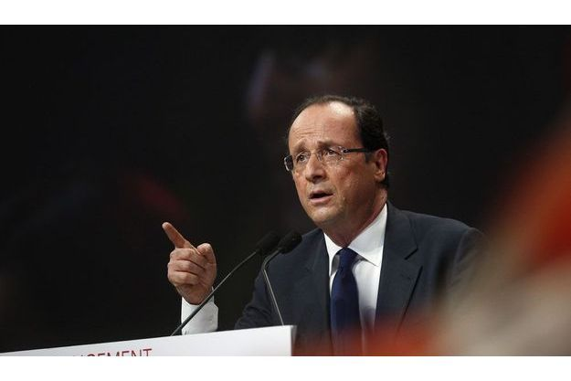 François Hollande, mercredi soir à Marseille.