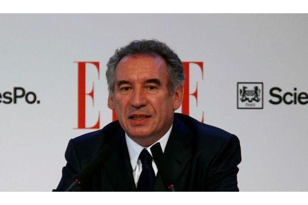 François Bayrou, mercredi 5 avril, au forum organisé par « Elle » à Sciences po.