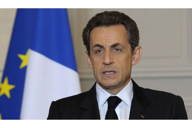 Nicolas Sarkozy à l'Elysée, lundi.
