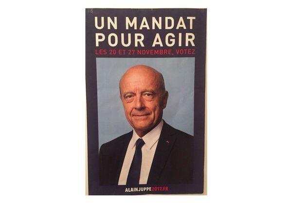 L'affiche de campagne d'Alain Juppé.
