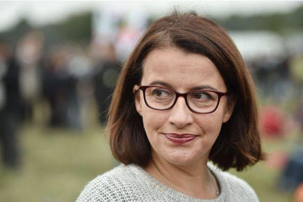 Cécile Duflot à Notre-Dame-des-Landes le 8 octobre dernier.