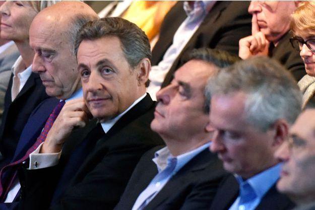 Alain Juppé, Nicolas Sarkozy, François Fillon et Bruno Le Maire.