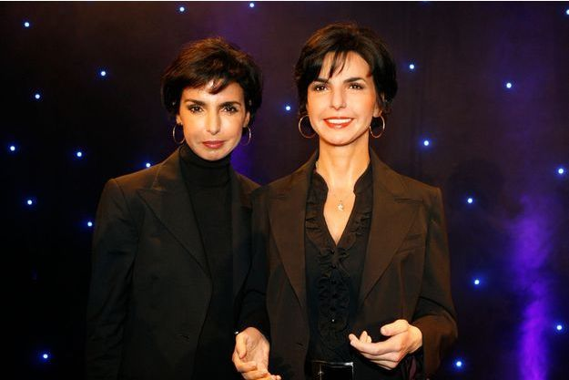 Rachida Dati et son double de cire du musée Grévin.