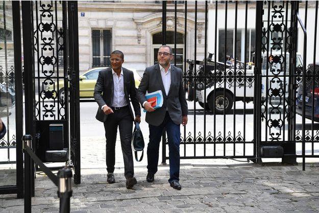 Karim Bouamrane et Rachid Temal, ici en juillet à Paris.