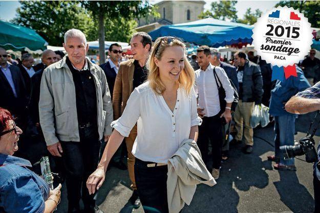 La députée du Vaucluse sur le marché du Pontet, Marion Maréchal-Le Pen, le 28 mai.