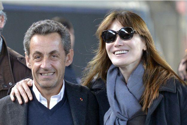 Nicolas Sarkozy et Carla Bruni à la gare de l'Est en mars dernier.