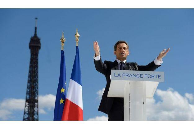 Nicolas Sarkozy, le 1er mai, place du Trocadéro.