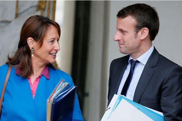 Emmanuel Macron et Ségolène Royal, alors minsitres du gouvernement Valls, en mai 2016 à l'Elysée.