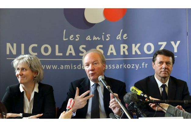 Nadine Morano, Brice Hortefeux et Christian Estrosi le 20 février dernier.