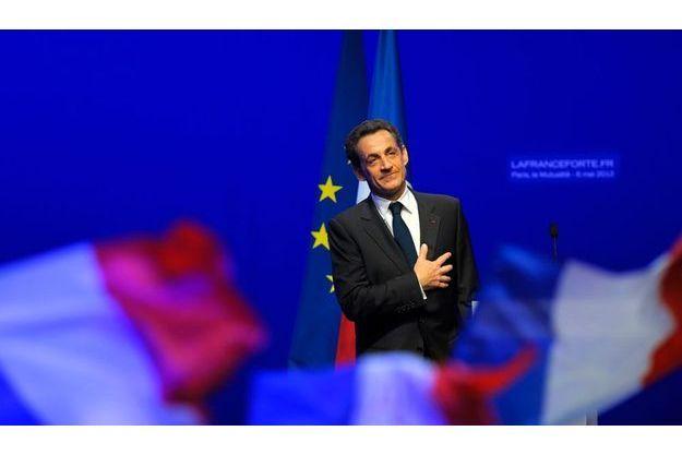 Dimanche 6mai, Nicolas Sarkozy remercie ses partisans.