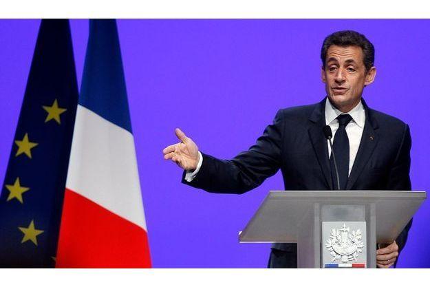 Nicolas Sarkozy, lors du discours de Toulon.