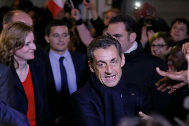 Nicolas Sarkozy, élu président de l'UMP, samedi soir à Paris.