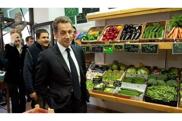 Nicolas Sarkozy à Longjumeau le 24 avril.