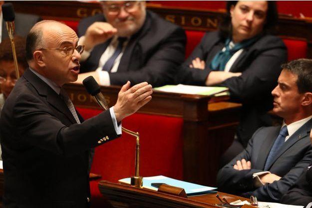 Bernard Cazeneuve, mercredi, lors des questions au gouvernement.