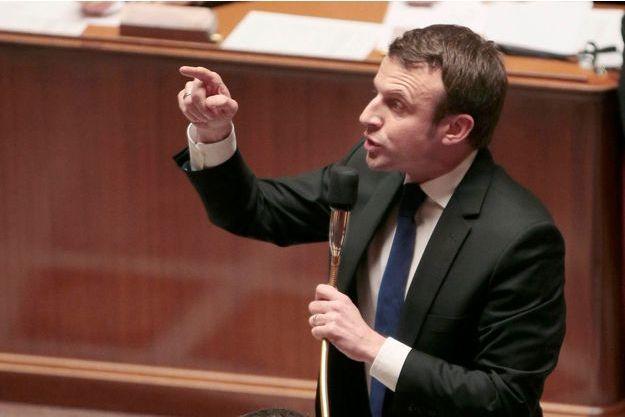 Emmanuel Macron à l'Assemblée nationale quand il était ministre de l'Economie.