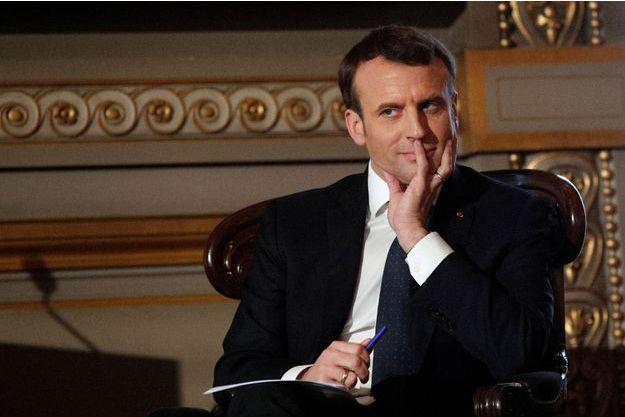 Emmanuel Macron lors des voeux à la Cour de Cassation le 15 janvier 2018.