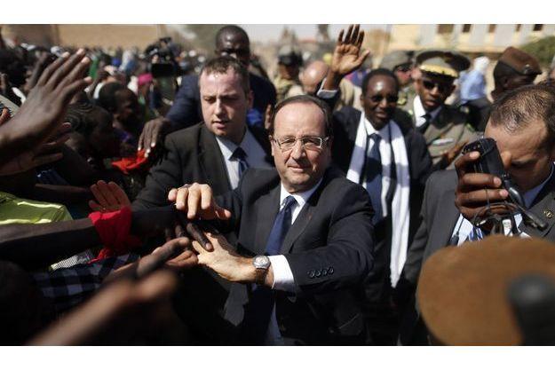 François Hollande à Tombouctou, samedi dernier.