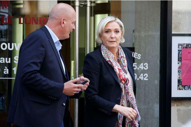 Marine Le Pen lundi à Paris.