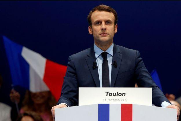 Emmanuel Macron samedi à Toulon.