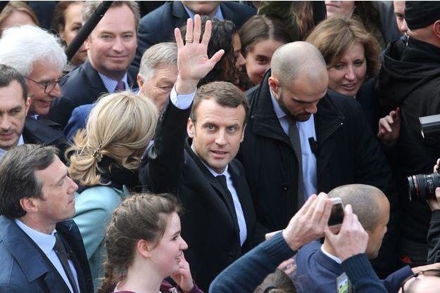 Emmanuel Macron ce vendredi lors de son déplacement à Reims