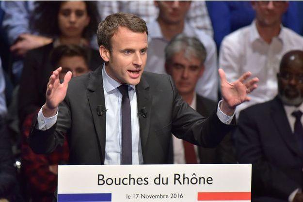 Emmanuel Macron à Marseille le 17 novembre dernier.