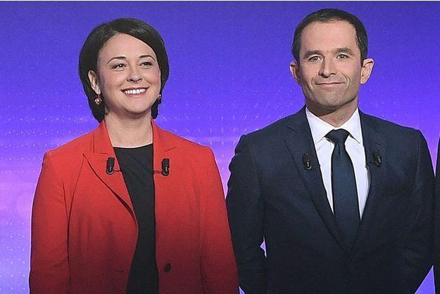 Sylvia Pinel et Benoît Hamon lors du dernier débat de la primaire de la gauche, le 19 janvier 2017.