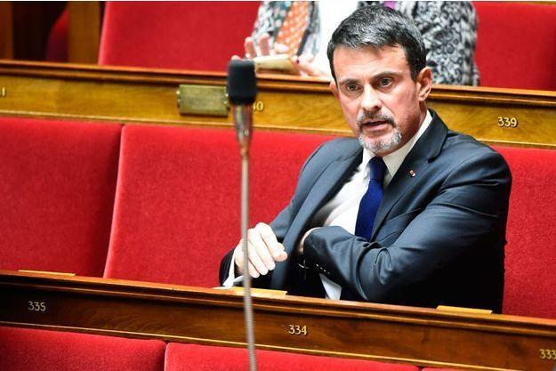 L'ancien Premier ministre Manuel Valls à l'Assemblée nationale le 10 octobre 2017.