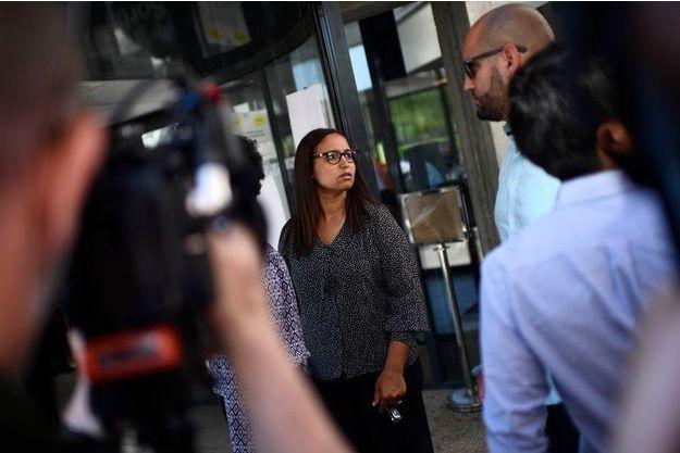 Farida Amrani, candidate de La France insoumise, lundi 19 juin.
