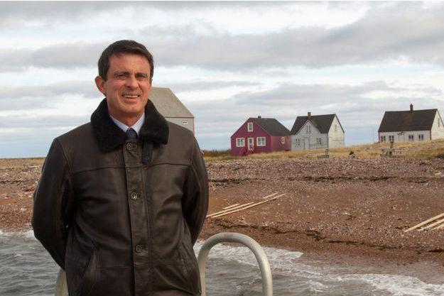 Manuel Valls à Saint-Pierre et Miquelon, le week-end dernier.