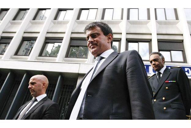 Manuel Valls à Grenoble, mardi.