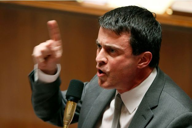 Manuel Valls à l'Assemblée nationale, le 23 avril.