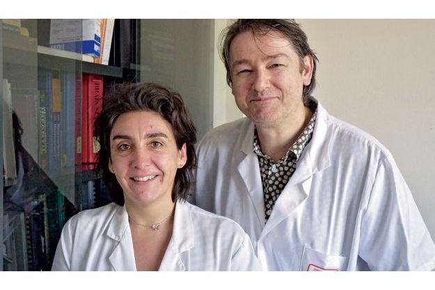 Le Dr Jacques Grill et le Pr Stéphanie Puget