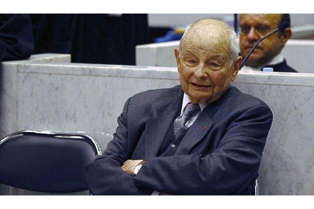 Jacques Servier était présent ce lundi à l'ouverture de son procès à Nanterre.