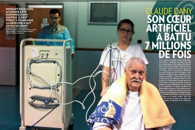 Le 9 janvier, trois semaines après l'implantation, Claude Dany peut sortir de sa chambre de l'hôpital européen Georges-Pompidou. Le lendemain, il subit une quatrième intervention dont il ne se relèvera pas.