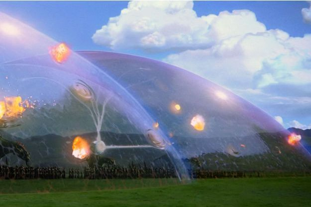 Les boucliers utilisés par la tribu Gungan, dans Star Wars épisode 1.