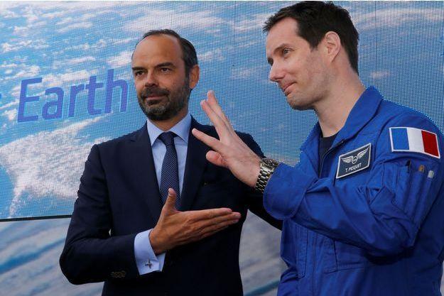 Thomas Pesquet et Edouard Philippe le 23 juin dernier.