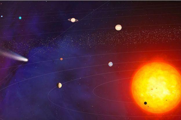 Illustration du système solaire