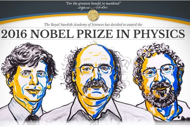 David Thouless, F. Duncan Haldane et J. Michael Kosterlitz