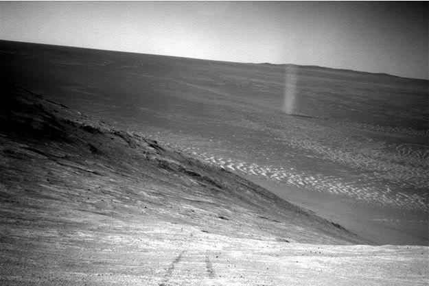 Le tourbillon immortalisé par Opportunity sur Mars