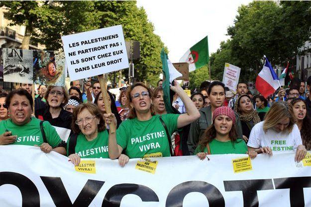 Des pro-Palestiniens manifestent le 23 juillet à Paris.
