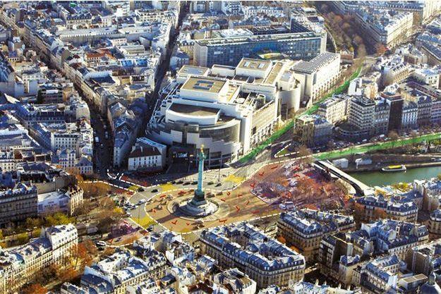 La place de la Bastille remodelée.