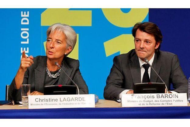 La ministre de l'Economie Christine Lagarde et le ministre du Budget François Baroin. Leur ministère a été la cible d'une attaque informatique.