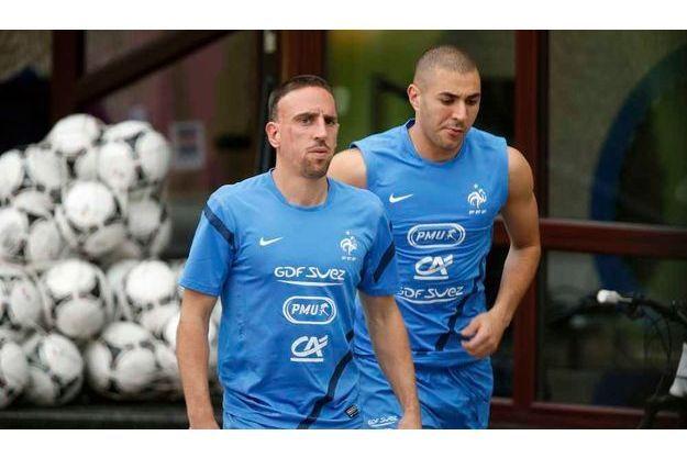 Franck Ribéry et Karim Benzema.