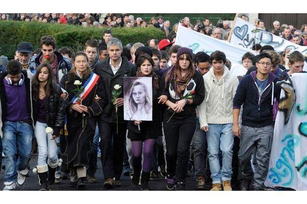 Le 20 novembre. Marche blanche à Chambon sur Lignon à la mémoire d'Agnès.