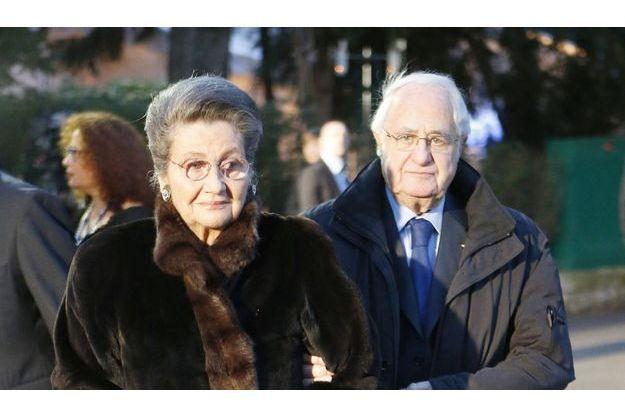 Simone et Antoine Veil à leur arrivée au diner du CRIF, le 20 mars dernier.