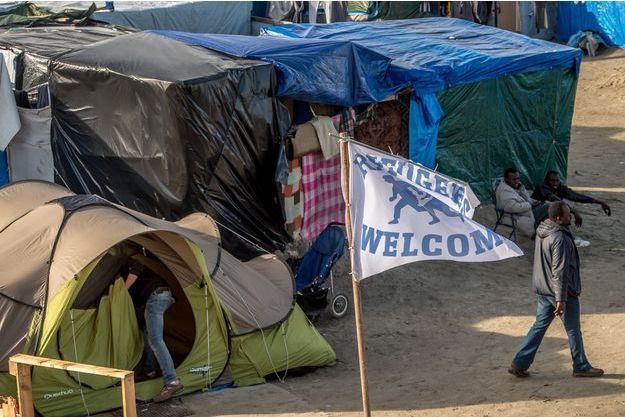 Un camp de migrants à Calais (photo d'illustration)