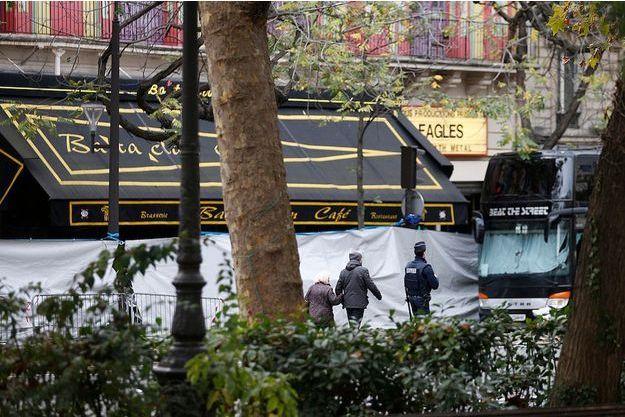 Le Bataclan au lendemain de l'attaque terroriste.