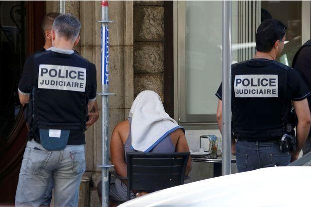 Arrestation à Nice, le 16 juillet 2016.