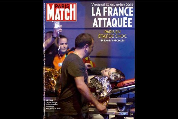 La couverture du numéro exceptionnel de Paris Match consacré aux attentats.